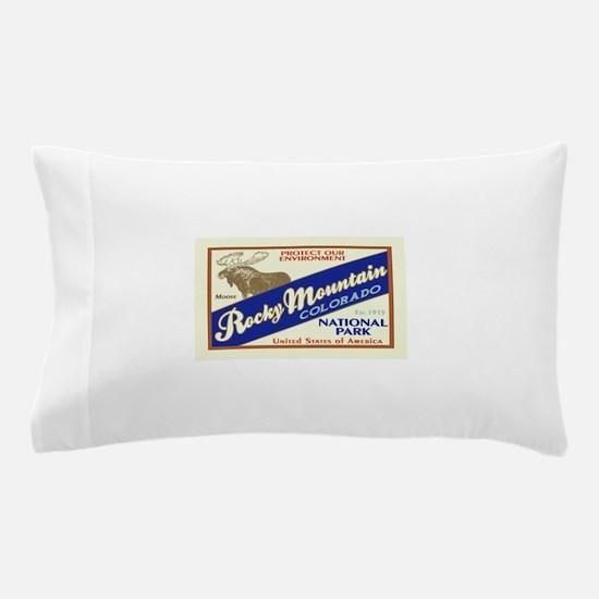 Cute Rocky mountain national park Pillow Case