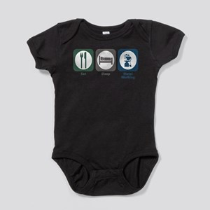 Eat Sleep Metal Working Infant Bodysuit Body Suit
