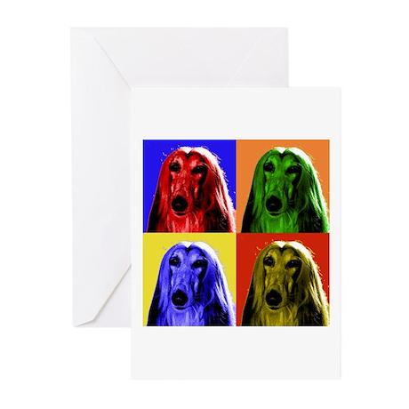 Afghan Hound Color Blocks Greeting Cards (Pk of 20
