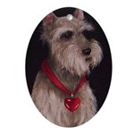 Schnauzer Christmas Oval Ornament