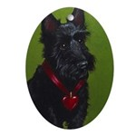 Scottie Dog Christmas Oval Ornament