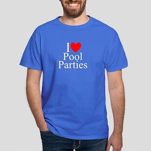 """I Love (Heart) Pool Parties"" Dark T-Shirt"