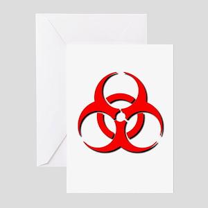 Biohazard Symbol Greeting Cards (Pk of 10)
