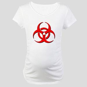 Biohazard Symbol Maternity T-Shirt