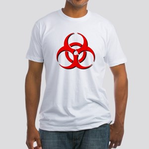 Biohazard Symbol Fitted T-Shirt