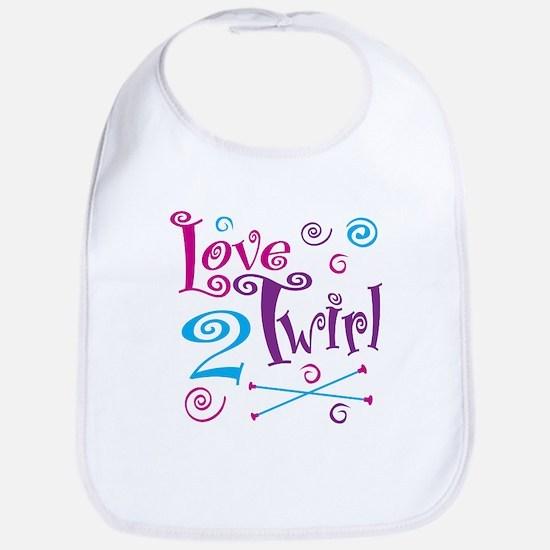 Love 2 Twirl Bib