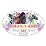 Horseland TM Oval Sticker