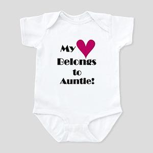 My Heart Belongs to Auntie Infant Bodysuit