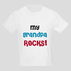 My Grandpa Rocks Kids Light T-Shirt