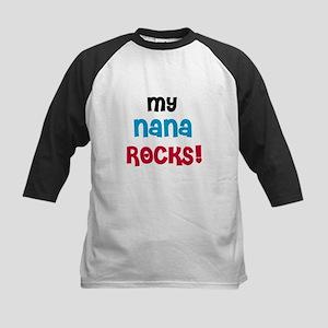 My Nana Rocks Kids Baseball Jersey