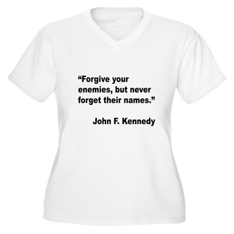 Kennedy Forgive Enemies Quote Women's Plus Size V-