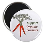 """Support Organic Farmers 2.25"""" Magnet (10 pack"""