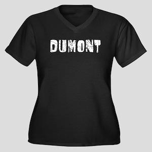 Dumont Faded (Silver) Women's Plus Size V-Neck Dar