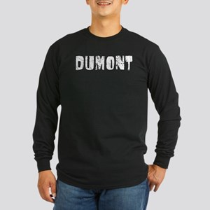 Dumont Faded (Silver) Long Sleeve Dark T-Shirt