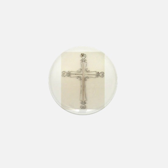 beautiful cross Mini Button