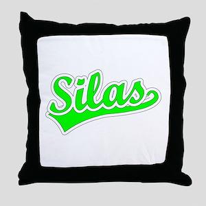 Retro Silas (Green) Throw Pillow