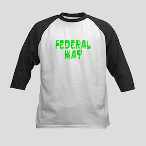 Federal Way Faded (Green) Kids Baseball Jersey