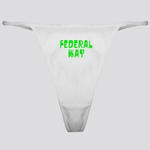 Federal Way Faded (Green) Classic Thong