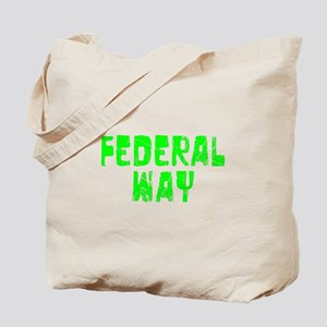 Federal Way Faded (Green) Tote Bag
