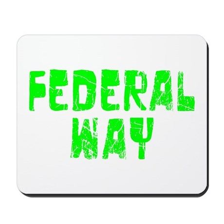 Federal Way Faded (Green) Mousepad