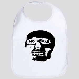 No War Cotton Baby Bib