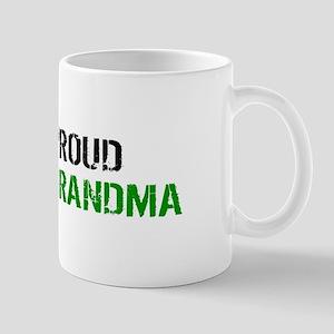 British Flag Green Line: Proud Grandma Mug