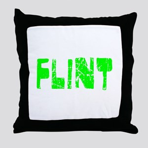 Flint Faded (Green) Throw Pillow