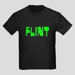 Flint Faded (Green) Kids Dark T-Shirt