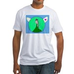 Western Wood Pewee Fitted T-Shirt