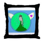 Western Wood Pewee Throw Pillow