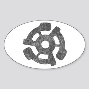Vintage 45 RPM Oval Sticker