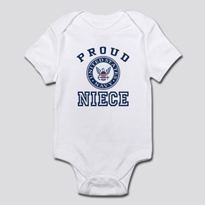 Proud US Navy Niece Infant Bodysuit