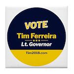 Tim 2018 - Vote - Circle Tile Coaster