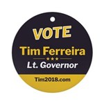 Tim 2018 - Vote Round Ornament