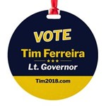 Tim 2018 - Vote - Circle Round Ornament