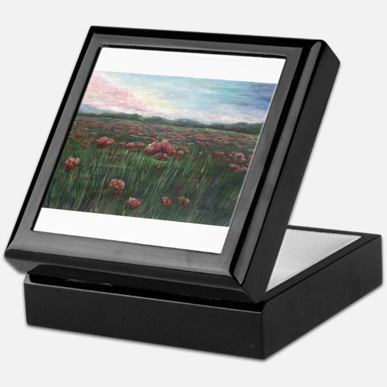 French Poppies Keepsake Box