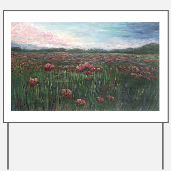 French Poppies Yard Sign
