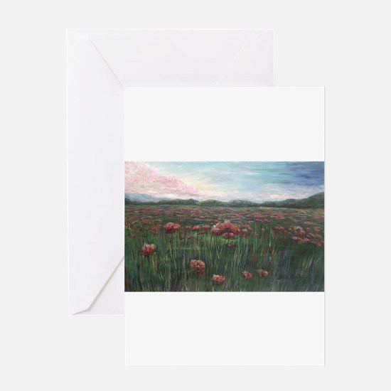 French Poppies Greeting Card