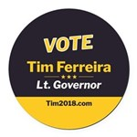 Tim 2018 - Vote Round Car Magnet