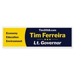 Tim 2018 - Narrow - Yellow Bumper Sticker