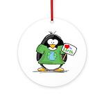 Love the Earth Penguin Ornament (Round)