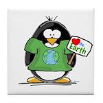 Love the Earth Penguin Tile Coaster