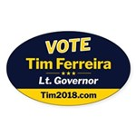 Tim 2018 - Vote - Oval Sticker