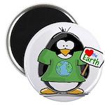 Love the Earth Penguin Magnet