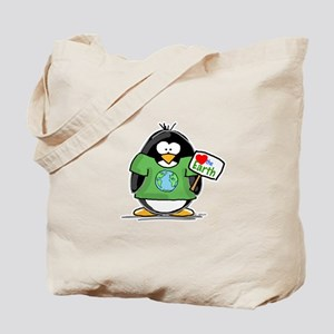 Love the Earth Penguin Tote Bag