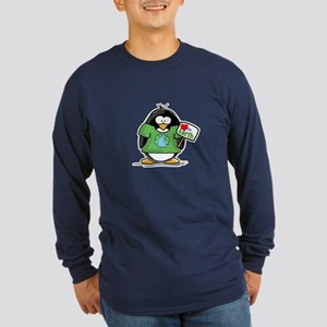 Love the Earth Penguin Long Sleeve Dark T-Shirt