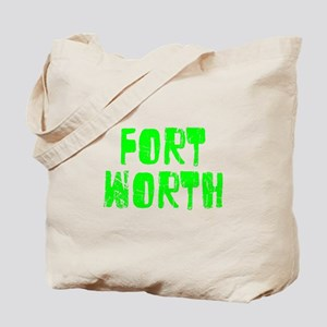 Fort Worth Faded (Green) Tote Bag