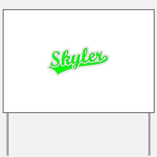 Retro Skyler (Green) Yard Sign