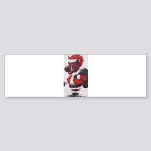 Razorback Santa Bumper Sticker