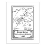 Belle Boyd' Map 1862 Small Poster